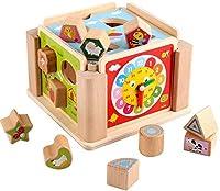 パズルプラスチック早期教育ベビーブロックおもちゃ子供用ビルディングブロックパズル形状ペアリング木製多機能ビルディングブロックおもちゃ幼児用カラフルインテリジェンスボックス(色:色、サイズ:フリーサイズ)