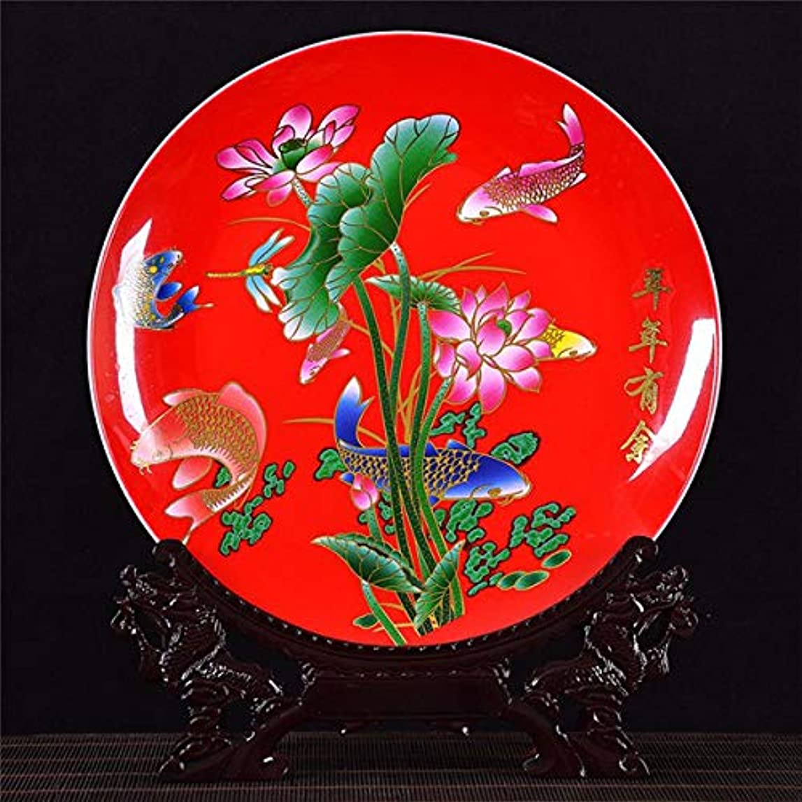 送料葉を集める結婚式WOAIPG 磁器 鳥のさえずり家の装飾陶磁器の装飾的な板装飾的な板木製のベース磁器プレート結婚祝い  4