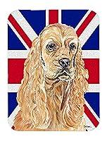 Caroline's Treasures Buff Cocker Spaniel with Engish Union Jack British Flag Mouse Pad/Trivet (SC9866MP) [並行輸入品]