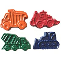 MinifigFans 48 Construction Vehicle Crayons - Birthday Party Favors - 12 Sets of 4 Crayons - Made in the USA [並行輸入品]