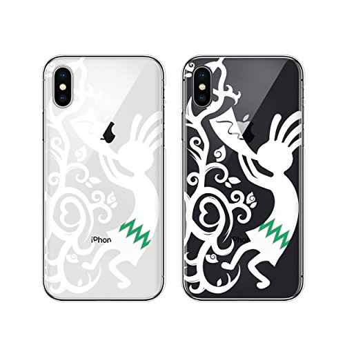 iPhoneX 対応 スマホケース ココペリ 白トライバル ...