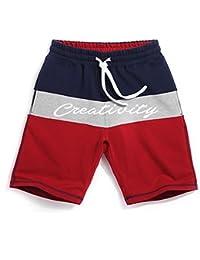 マルチサイズ ストライプ コットン 軽量 スポーツパンツ メンズビーチパンツ (サイズ : S)