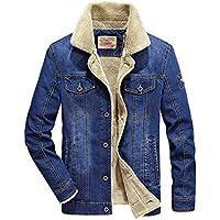 Pahajim Denim Jacket Men's Casual Jacket Large Size Plus Velvet Thicken Cotton Jacket Winter Wear
