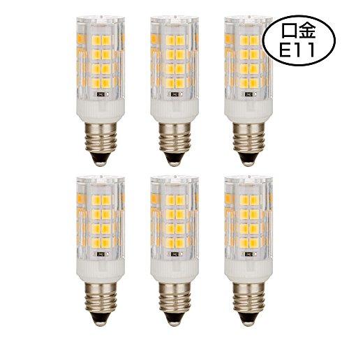E11口金 LED電球 SMD2835 50PCS LEDランプ ハロゲン電球 40W形相当 4W ...