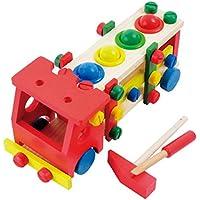 木製教育子Disassembly /スクラップねじアセンブリ自動車取り外し可能多機能Tinker Playセット木製教育玩具