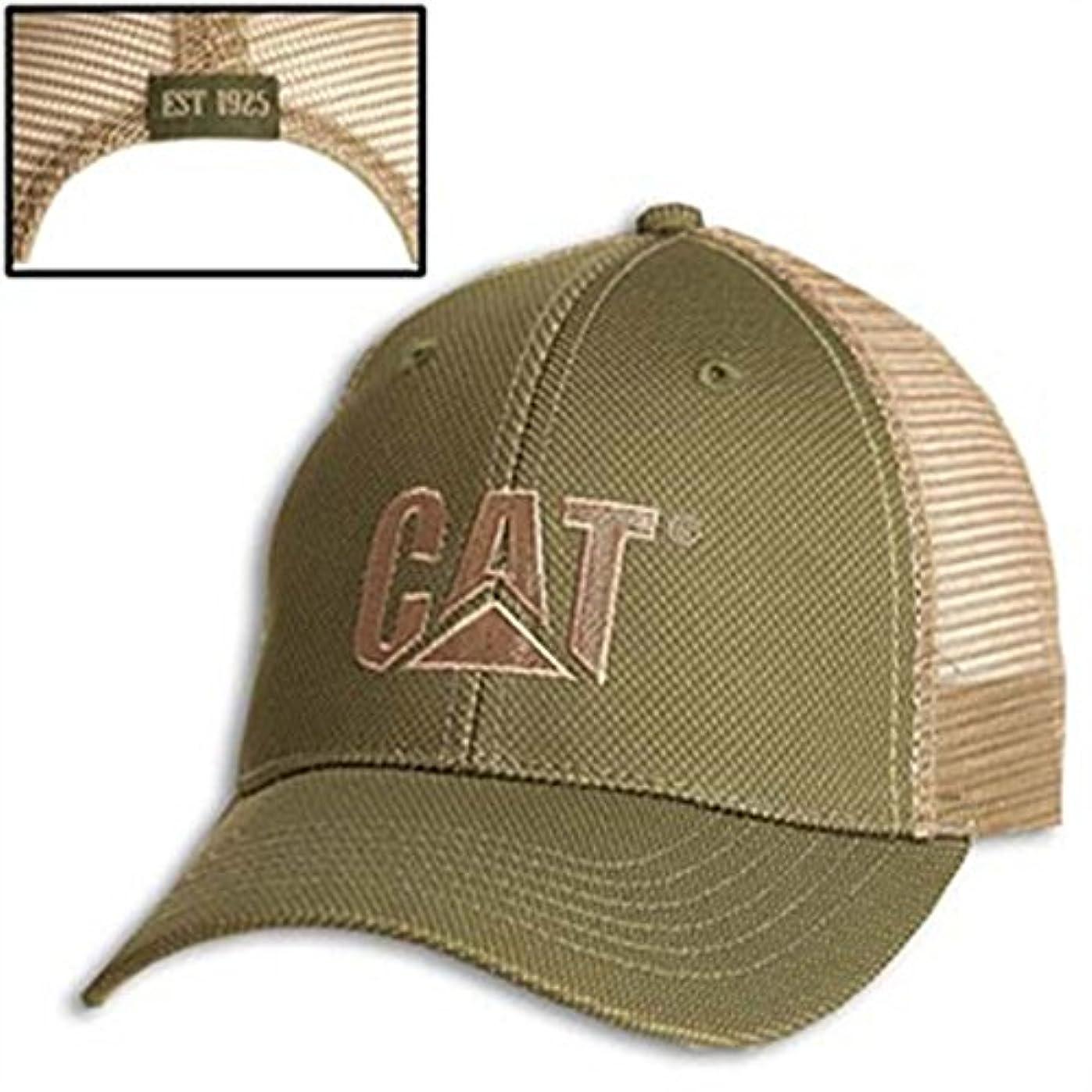 画像チョーク幸福Caterpillar CAT Green Twill / Tanメッシュキャップ