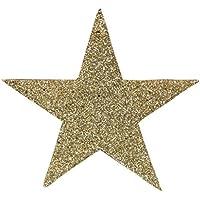 C-Princess クリスマスツリー 飾り 装飾 星 スター キラキラ クリスマス オーナメント アンティーク調 おしゃれ DIY 手作り パーティー ゴールド 10cm
