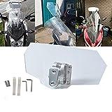 スクリーン パーツ SAMLIGHT バイク 風防 風除け オートバイ調整式フロントウィンドスクリーン 取り付け説明書付け 1年保証 透明
