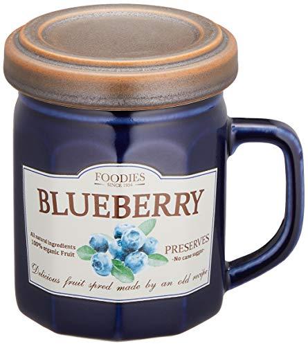 セトクラフト デザイン小物 ブルー マグ:10×7.5×9.5�p、フタ:φ8×1.5�p、マグ+フタ:10.5×8×10�p フタ付きマグ(ジャム)ブルーベリー SP-1951