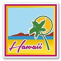 2 x 20cm ハワイ - ノートPCやタブレット用ビニールステッカー #4606