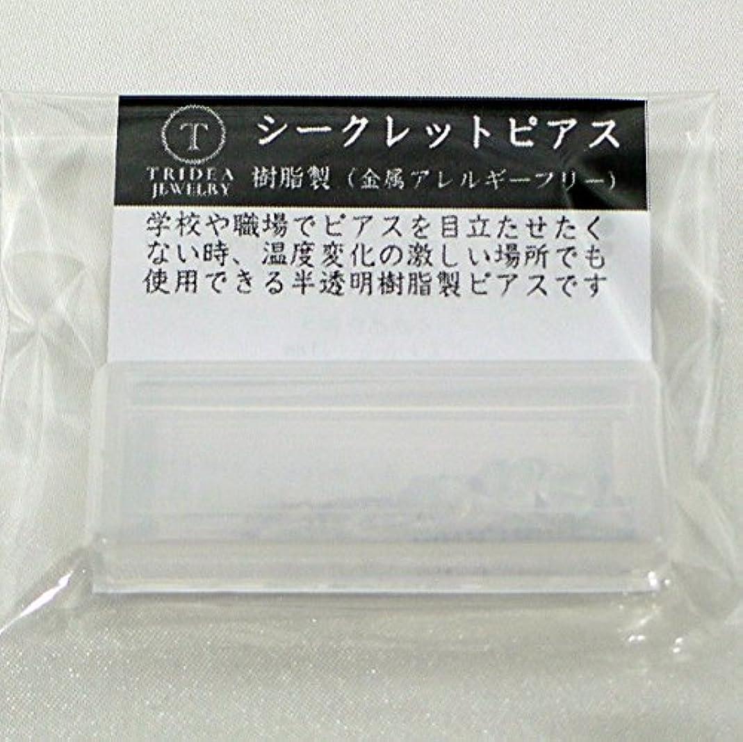 識字悪党連結するシークレットピアス 樹脂透明ピアス 金属アレルギーフリー ピアスホール維持に最適 (6セット)