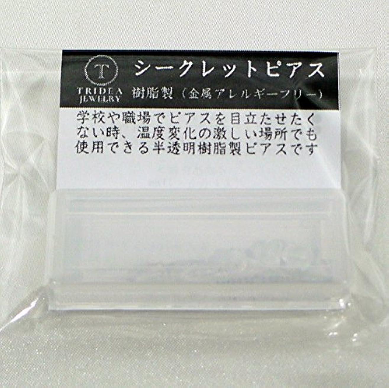 休みラベンダーユーザーシークレットピアス 樹脂透明ピアス 金属アレルギーフリー ピアスホール維持に最適 (6セット)