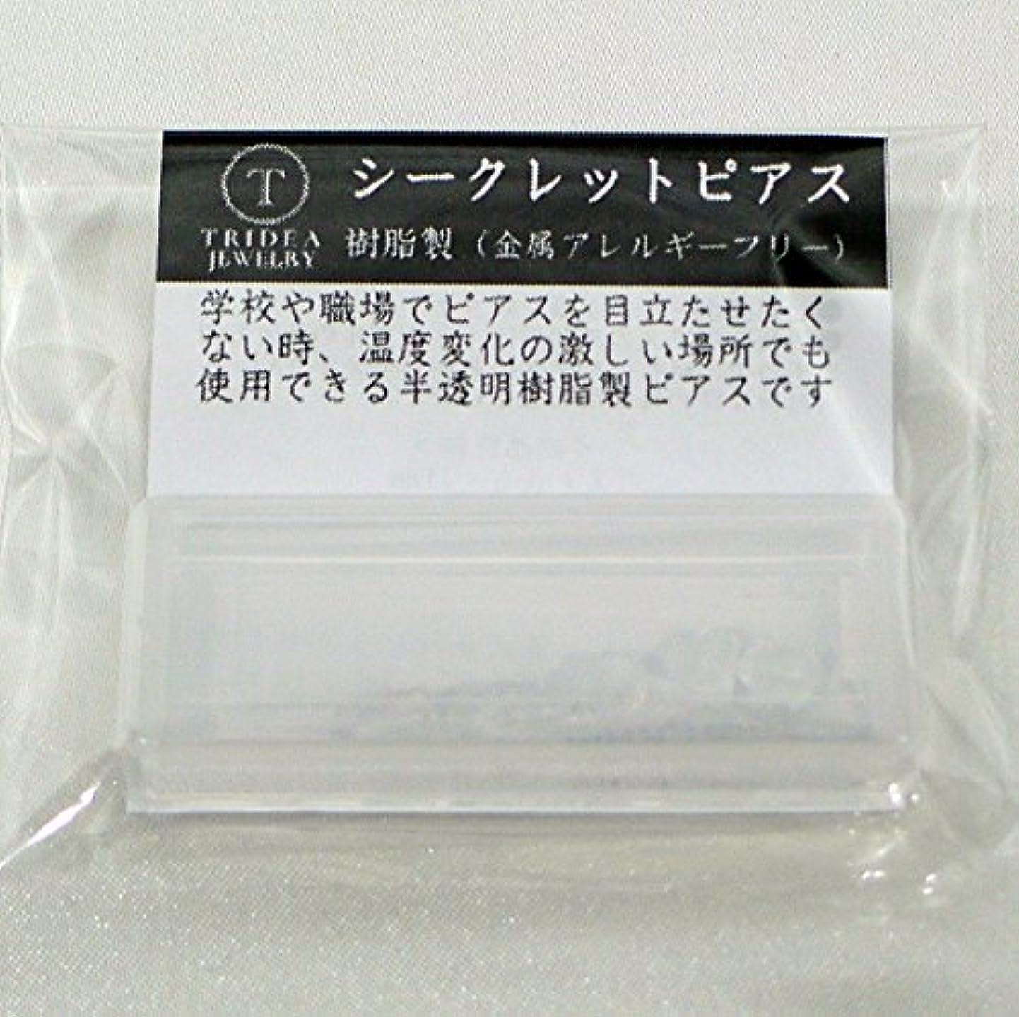 間欠最初に遺体安置所シークレットピアス 樹脂透明ピアス 金属アレルギーフリー ピアスホール維持に最適 (6セット)