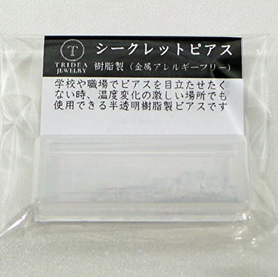 たっぷり革新プットシークレットピアス 樹脂透明ピアス 金属アレルギーフリー ピアスホール維持に最適 (6セット)