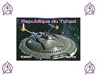 スタートレックの収集品 - スターシップエンタープライズNX - 01無孔ミニチュアスタンプ切手シート - すばらしい状態とヒンジ付きません - 2013 /チャド/ 1000F