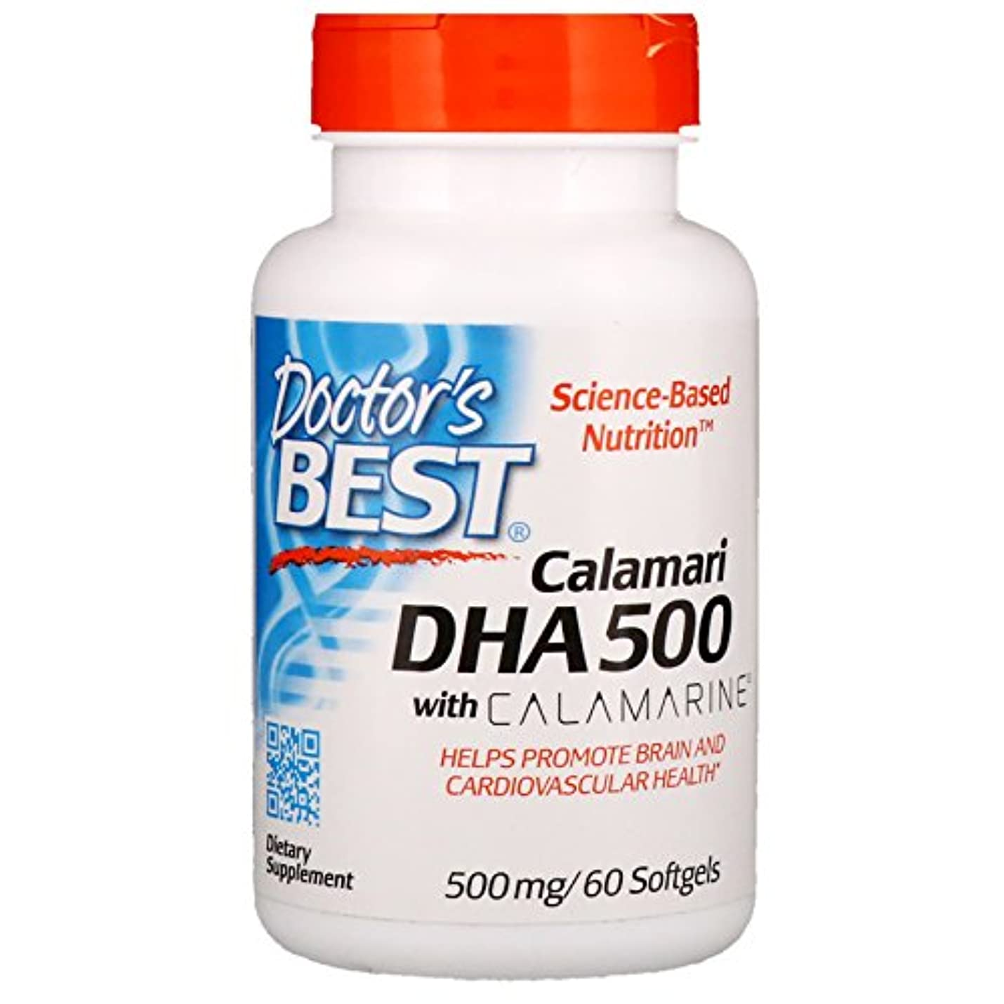 率直な物理学者溶かすベストDHA 500(カラマリ由来) 60ソフトカプセル (海外直送品)