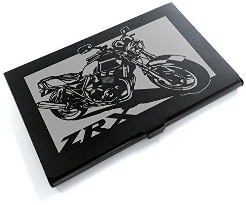ブラックアルマイト「カワサキ(KAWASAKI) ZRX400 」切り絵デザインのカードケース[BC-018]