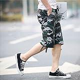 メンズ ワークパンツ ハーフ パンツ 迷彩 カモフラ ミリタリー 春夏 大きいサイズ 綿 カジュアル 半パン 半ズボン 多いポケット ゆったり