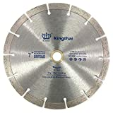 Kingthai ダイヤモンドカッター セグメント 180mm 乾式 コンクリート ダイヤモンドブレード レンガ ブロック 切断用 刃 ダイヤモンド カッター 替刃 替え刃 石材用 ダイヤモンドホイール