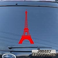 3s MOTORLINEエッフェル塔デカールステッカーLa Tour Paris Franceフランス車ビニールPickサイズカラーDie Cut No bkgrd B 28'' (71.1cm) ブラック 20180409s25