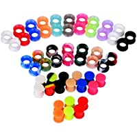 IU Mode 54PCS Silicone Tunnels Ear Gauges Tunnels Plugs Stretchers Expander 00g(10mm)