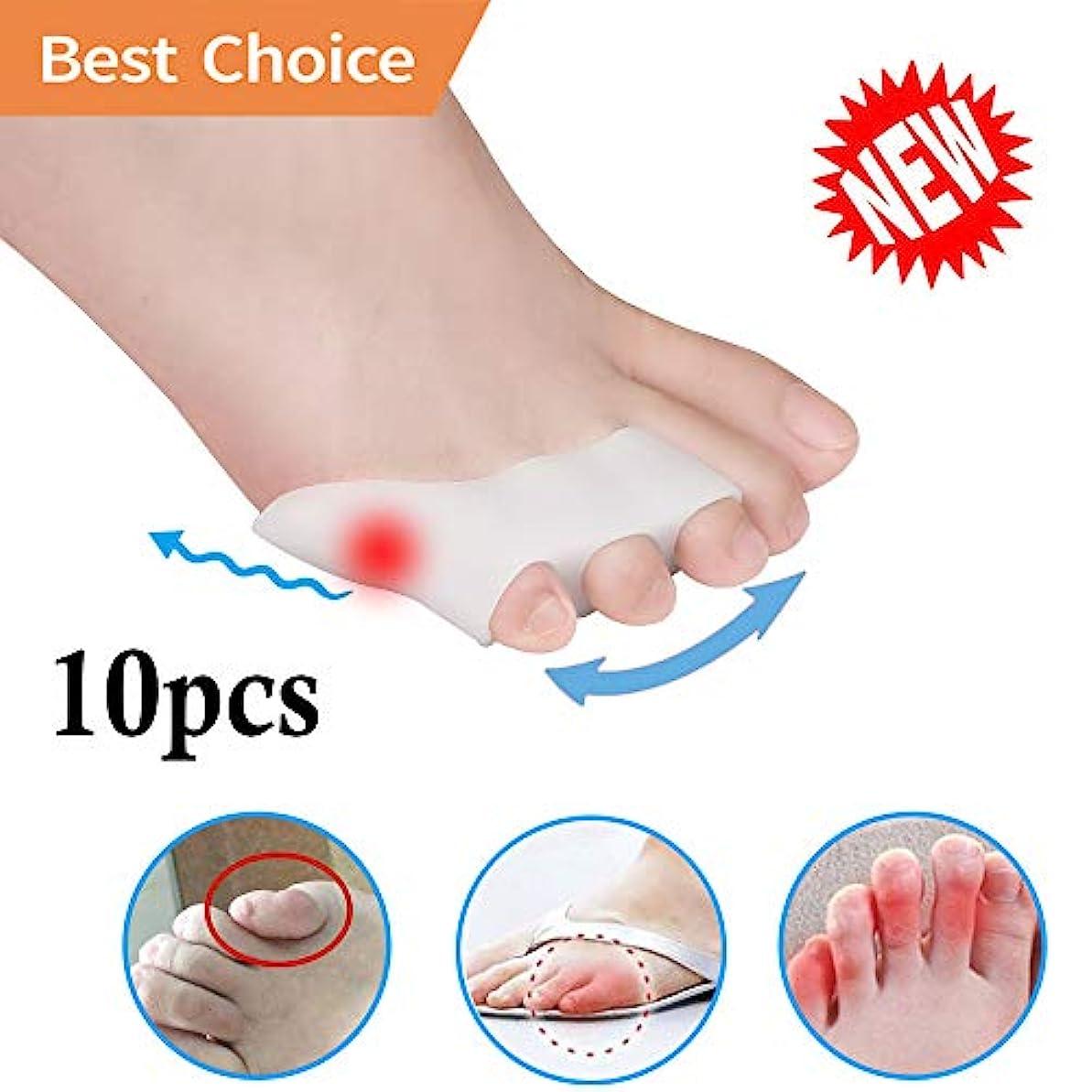 故意にバイパス左Pnrskter 内反小趾 サポーター 足指分離パッド 内反小趾矯正 水疱 摩擦からの痛みの軽減 歩行の負担を軽減 靴ズレ防止 10個入