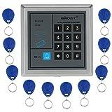 KKmoon アクセスコントローラ ドアロックアクセスコントロールシステム+ 10個キーフォブ RFIDプロキシミティ AD2000-M
