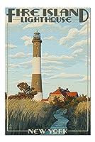 Captree島、ニューヨーク–Fire島灯台( 20x 30プレミアム1000ピースジグソーパズル、アメリカ製。 )