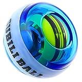 BETENSE スナップボール LED発光 フィットネス 自動回転モデル オートスタート機能 手首 筋トレ 握力 腕力 トレーニング (ブルー)