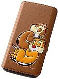 レイ・アウト Galaxy S6 edge ケース ディズニー ポップアップ 手帳型レザーケース スタンド機能付き チップとデール RT-DSC04GJ/CD