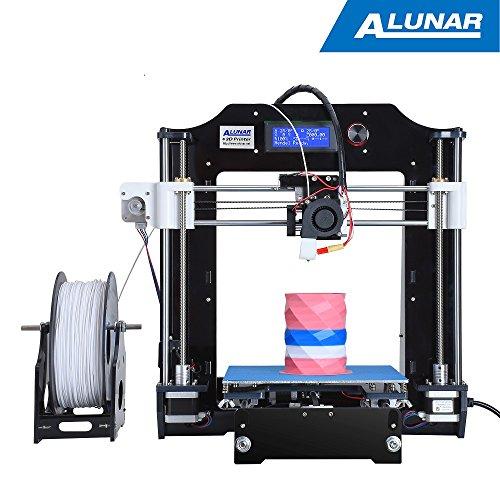 ALUNAR-M508 【工場直販】3Dプリンターキット 0.3mmノズル 高精度印刷 Reprap Prusa i3 DIY未組立 3D造形サイズ7200cm³  PLAフィラメント、組立てビデオSDカードが付属(ブラック)