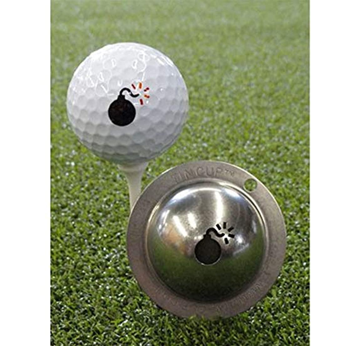 不明瞭も強制的Tin Cup Bombs Awayマーキングステンシルゴルフボール、スチール