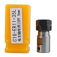HOZLY C16 ER11A 35L 5mm スピンドル モータ クランプ ロッド