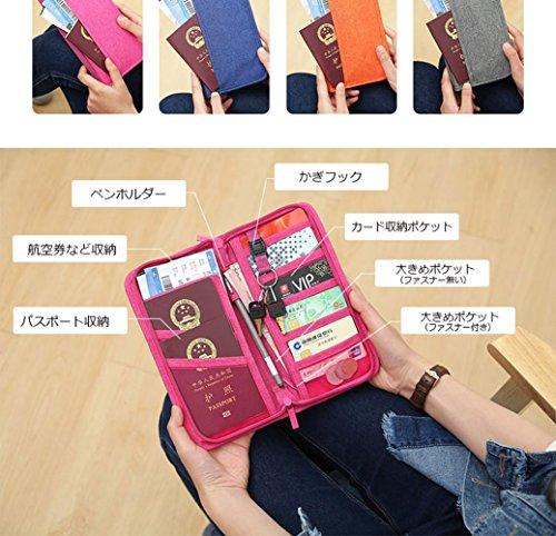 パスポートケース 13ポケット 航空券対応 トラベル 出張 ビジネス カバン トラベルポーチ カード入れ スマホ iphone6/6s/7/7 plus 収納バッグ ピンク