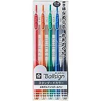 サクラクレパス ジェルボールペン ボールサインノック04 5色セット GBR154-5