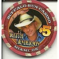 $ 5 Buffalo Run Keith AndersonカジノチップMiamiオクラホマObsolete