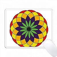 赤、金、紫、緑のカラフルなマンダラデザイン PC Mouse Pad パソコン マウスパッド