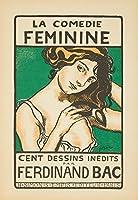 La Comedieフェミニンヴィンテージポスター(アーティスト: Bac )フランスC。1899 9 x 12 Art Print LANT-61698-9x12