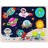 CMrtew ?? 赤ちゃん 子供 手握り 木製パズル 早期教育玩具 タングラム ジグソーボード アニメ 文字 フルーツ 動物 パズル おもちゃ 22x30cm マルチカラー all
