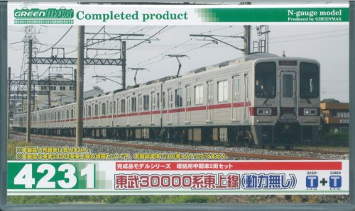 Nゲージ 4231 東武30000系東上線増結中間2輛 (塗装済完成品)