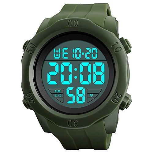[해외]R-timer (얼 타이머) 시계 남성 디지털 방수 다기능 스포츠 시계 led 시계 스톱워치 알람 기능 12|24 시간 전환 날짜 표시/R-timer (Earl Timer) watch Men`s digital waterproof multi function sports watch led watch stopwatch alarm function 1...