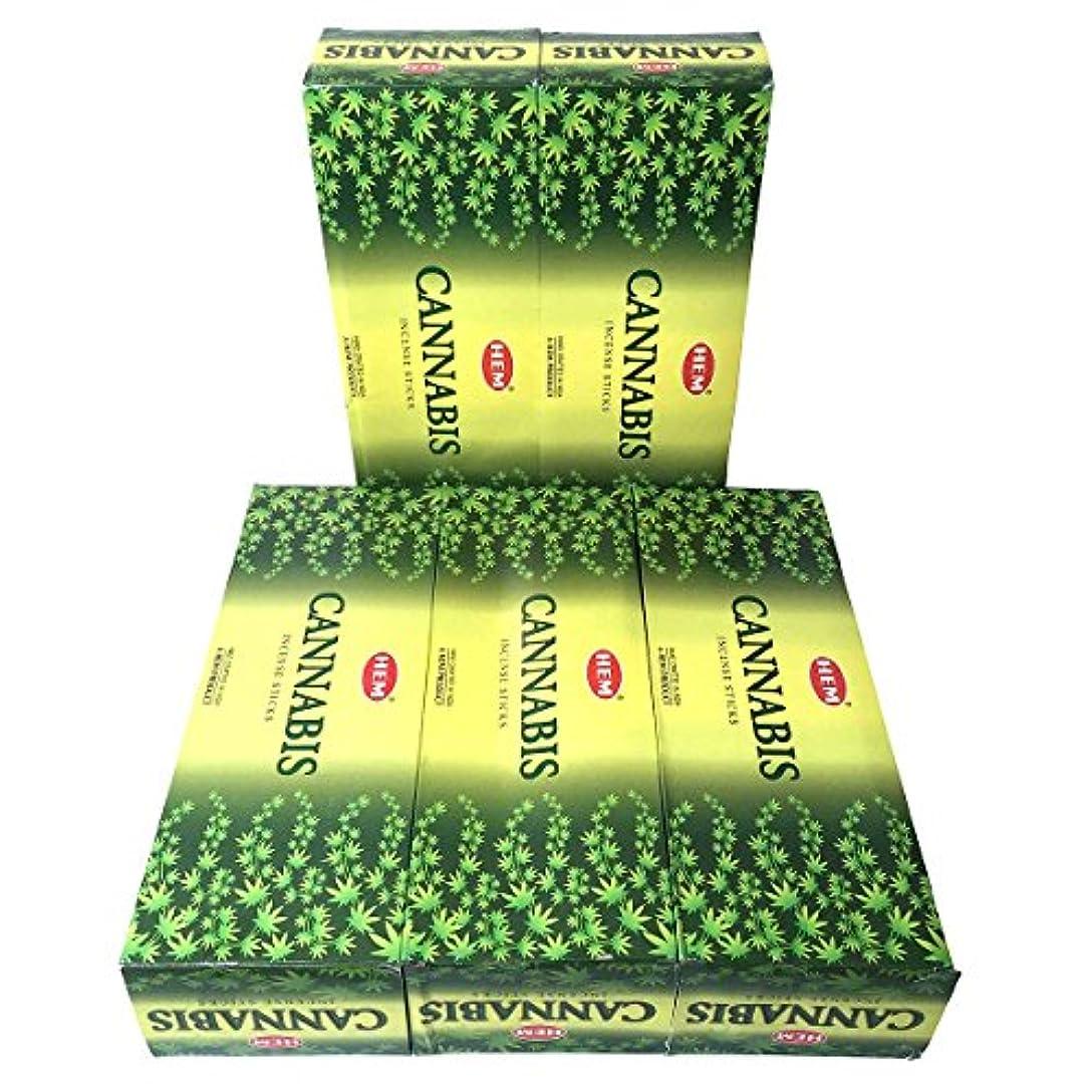 数学収益ナイロンHEM カナビス香 スティック 5BOX(30箱)/HEM WHITE CANNABIS/ インド香 / 送料無料 [並行輸入品]