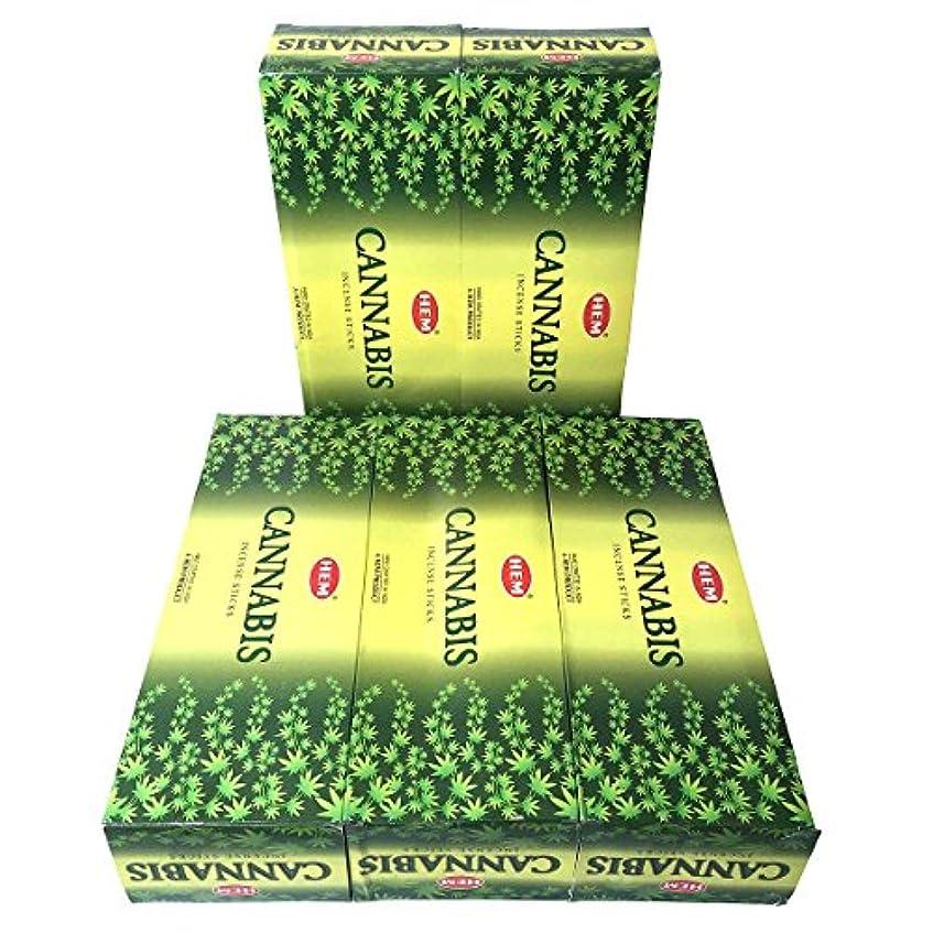 君主分どんよりしたHEM カナビス香 スティック 5BOX(30箱)/HEM WHITE CANNABIS/ インド香 / 送料無料 [並行輸入品]