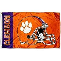 クレムソン大規模フットボールヘルメット3 x 5 Collegeフラグ