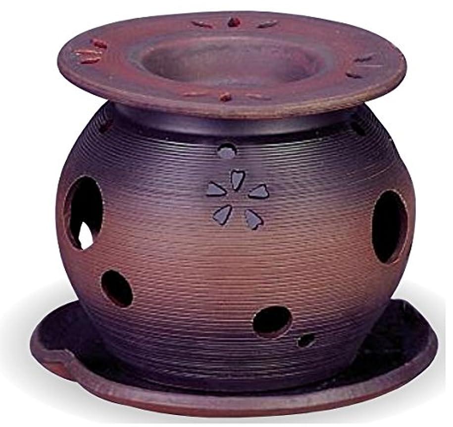 粘着性銛タイマー常滑焼 茶香炉(アロマポット)径11×高さ10cm