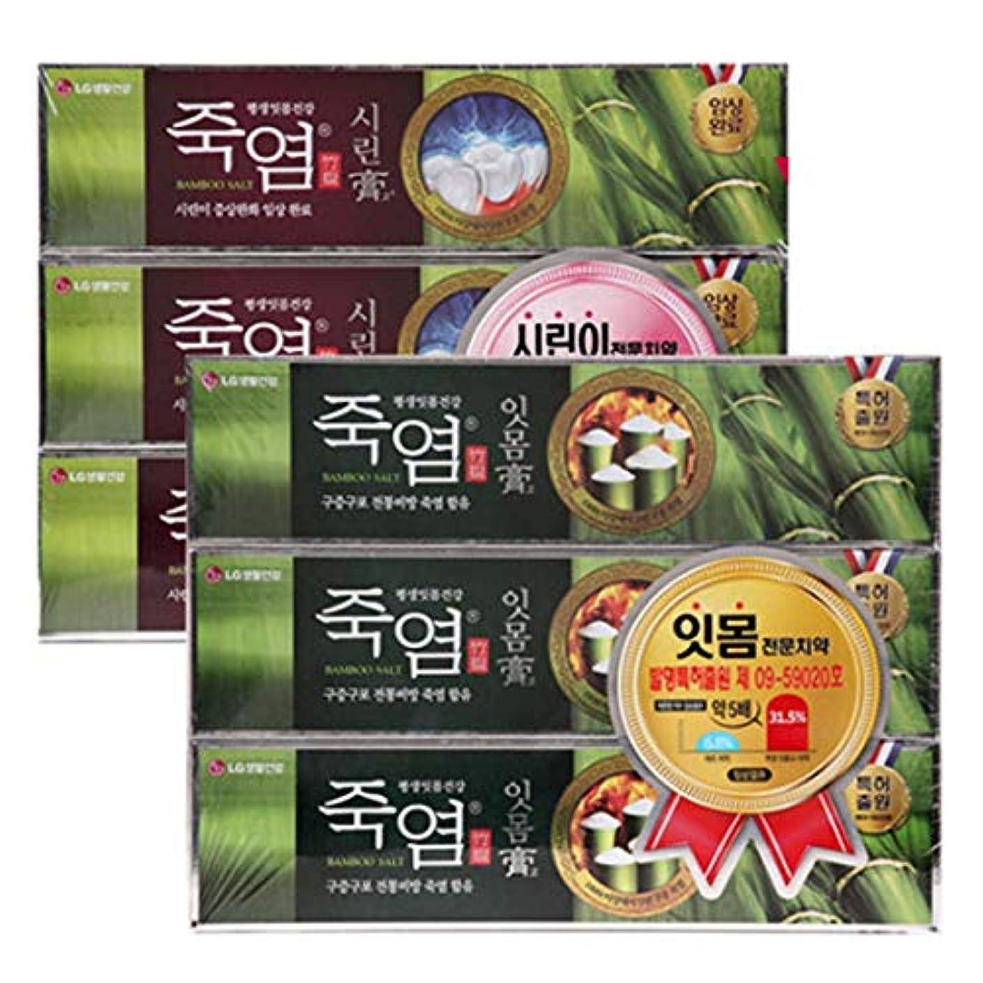 普遍的な松明ナチュラル[LG HnB] Bamboo salt gum. Crying toothpaste/竹塩ガムと。つぶれた歯磨き粉 120gx6個(海外直送品)