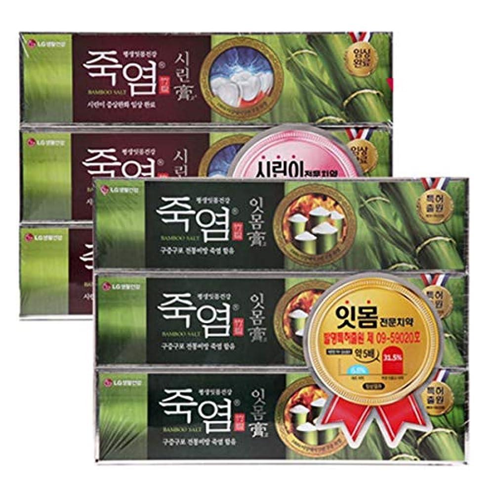 愛人最大限究極の[LG HnB] Bamboo salt gum. Crying toothpaste/竹塩ガムと。つぶれた歯磨き粉 120gx6個(海外直送品)