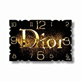 "Christian Dior 17"" x 11"" 壁時計( クリスチャン・ディオール)あなたの友人のための最高の贈り物。逆にしているメカニズム。あなたの家のためのオリジナルデザイン"