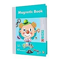 Blesiya 全3色選ぶ 磁気ジグソーパズル玩具 磁気本 ジグソーパズル 創造力高め 幼児 赤ちゃんのため 認知おもちゃ - 79枚‐人