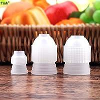 3個のS / M/Lプラスチックアイシング配管袋コンバータアダプターセットロシアのノズルのクリームノズルのパイプラインカプラーケーキの装飾用具